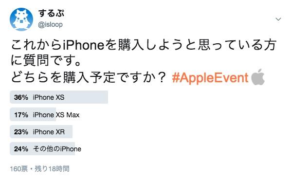 iPhone XS / XS Max / XR、どっちを買いますか?