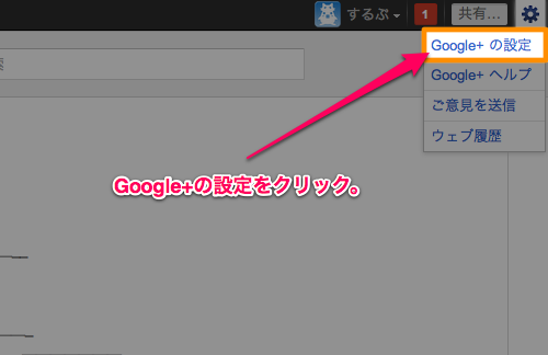 Google plus setting mail tsuuchi01