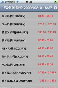 FX外国為替を起動。