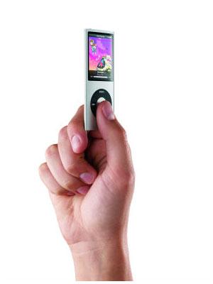 非常にスリムになった新型iPod nano