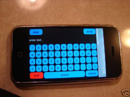 iPhoneのプロトタイプ。