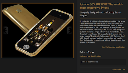 iphone 3GS SUPREME The worlds most expensive Phone