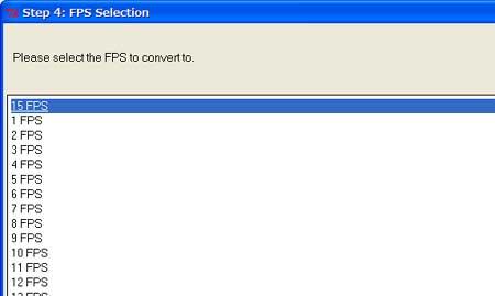 15FPSを選択。
