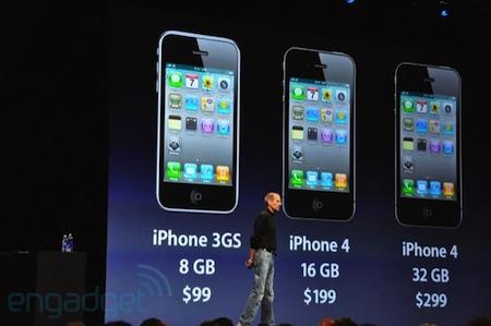 iPhone 4の価格。