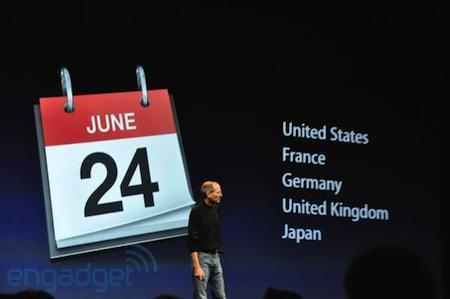 iPhone 4の発売日