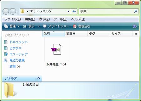 動画ファイルを用意しましょう。おすすめはCraving Explorer