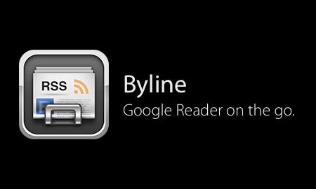 iPhone最強のRSSリーダーアプリ「Byline」が2009年7月11日限定で230円に値下げして販売するそうです。
