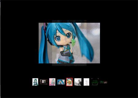 スライドショーでiPod側の写真の確認が出来る。