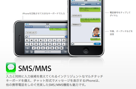 iPhoneのMMS