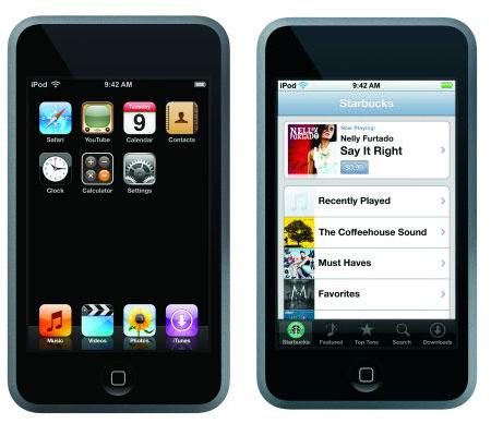 iPod touch(タッチ)のインターフェイス