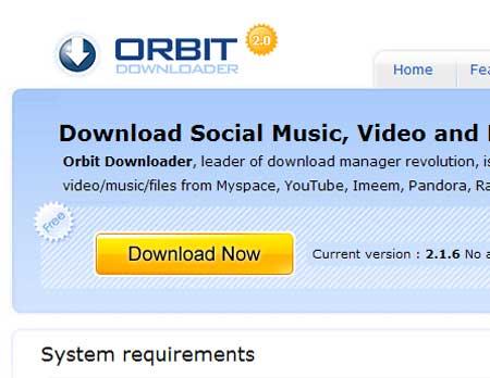 Orbitをダウンロードする。