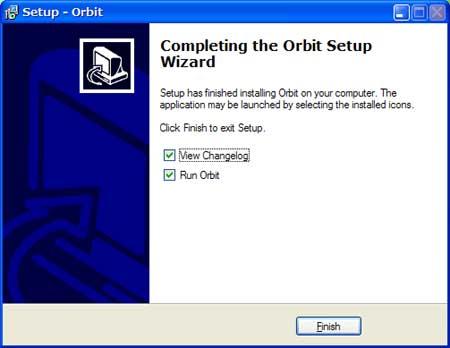 Orbitがインストールされました。