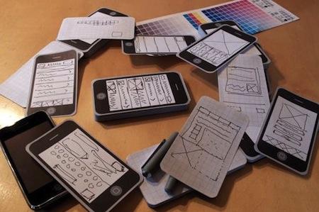 iPhone型のメモ帳。