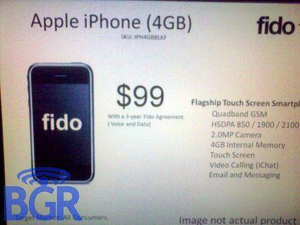 新型iPhone 4GBモデルの写真!?