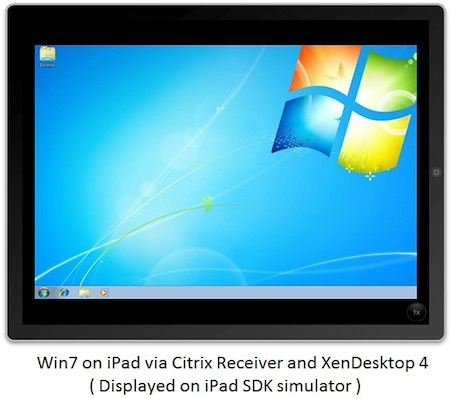iPadはWindows7が動く!