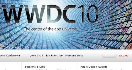 WWDC 2010のチケット、8日で売り切れる。