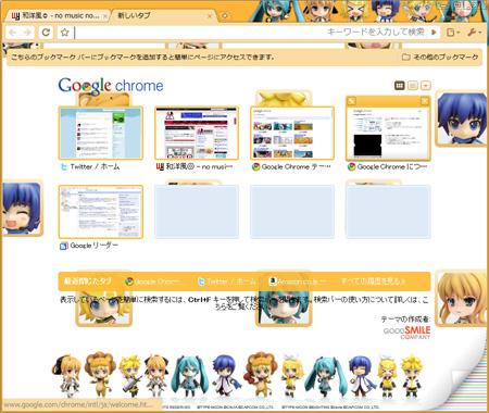 ねんどろいどGoogle Chromeテーマ