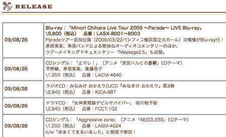 茅原実里、Blu-ray版Paradeをリリース。
