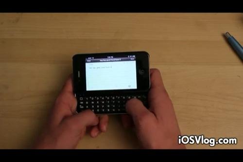 iPhone4にW-ZERO3ライクな物理スライドキーボードを搭載できる「Physical KEYBOARD Case」