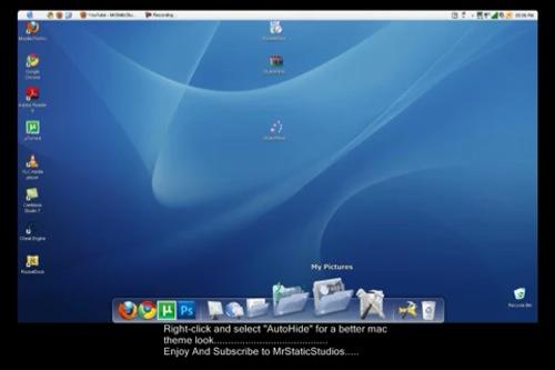 WindowsをMac化するムービー。