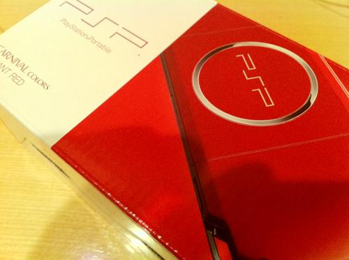 PSPラディアント・レッドとモンハン3買っちゃったZE!