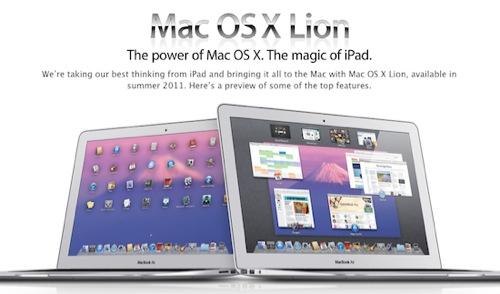 Mac OS X Lion は WWDC 2011の日に発売か!?
