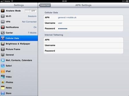 iOS 4.2からiPad 3Gにてインターネットテザリングできる。