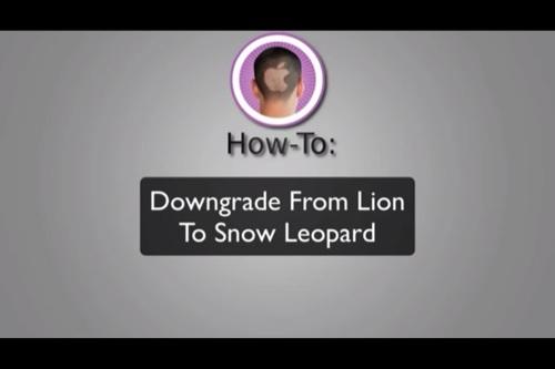 【動画】OS X Lionから、Mac OS X SnowLeopardにダウングレードする方法。