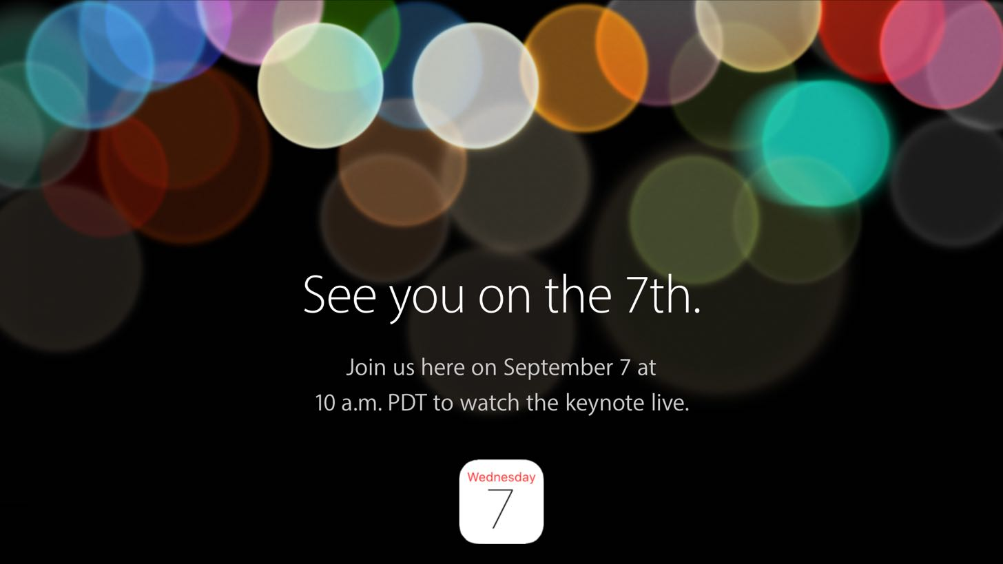 Appleのスペシャルイベント「See you on the 7th.」