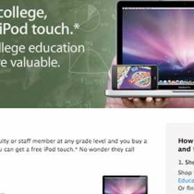 学生がMacを購入したらiPod touchが無料でもらえるキャンペーンがアメリカで開始。