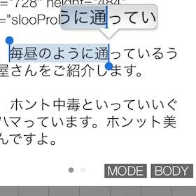 知ってるだけでめちゃラクに!iOSの文字の選択範囲は青丸だけでなく青枠を左右に動かしても拡大出来る!