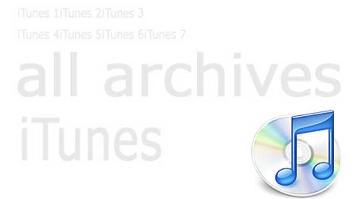iTunesの旧バージョンが全てアーカイブされているサイト。