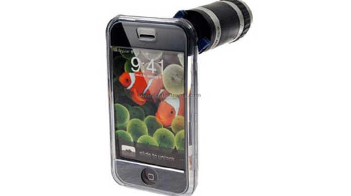 出オチ炸裂www 海外にはiPhoneのカメラにズームスコープを直接つけるアクセサリがあるw