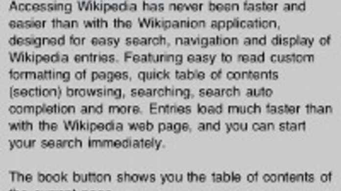 iPhone、iPod touchがWikipediaになる辞書化アプリ「Wikipanion」
