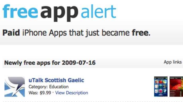 有料だったiPhoneアプリが無料になったら知らせてくれるサイト「FreeAppAlert」