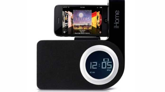 iPhoneを横置きに置ける目覚ましスピーカー「SDI iHome iP41 Rotating Alarm Clock for iPhone or iPod」