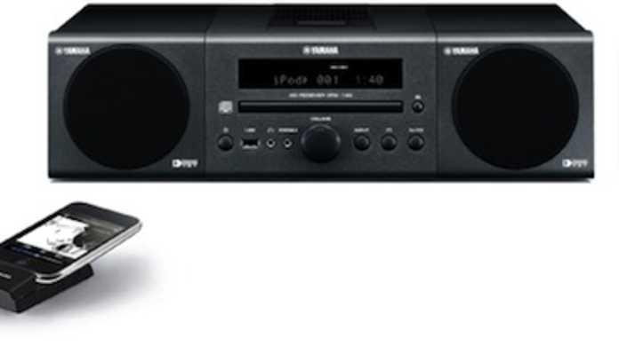 ワイヤレスにiPodとリンクするヤマハ製ミニコンポ「MCR-140」