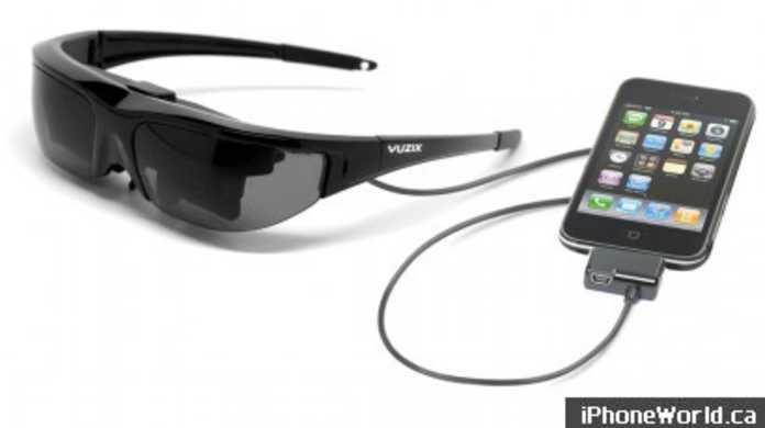 そのレンズの向こうにはiPhoneの映像が広がっている・・・的なサングラス「Vuzix Wrap 310 introduces Portable Video Eyewear」