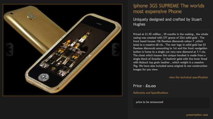 なんと2億7千万円もする金とダイヤモンドが散りばめられたiPhone 3GSケースが存在するっ・・・!