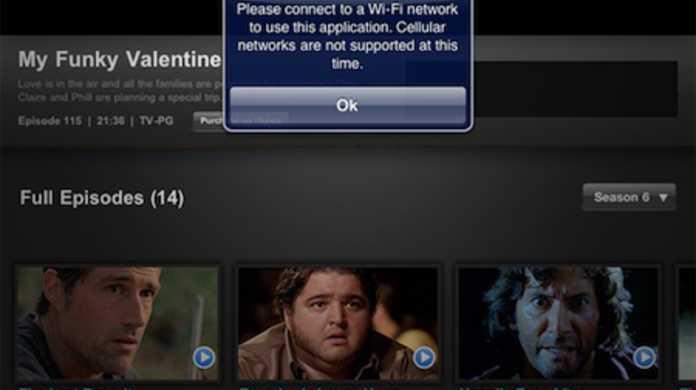 iPad、やはり3G回線だといくつかのアプリでストリーム動画を再生できない仕様。