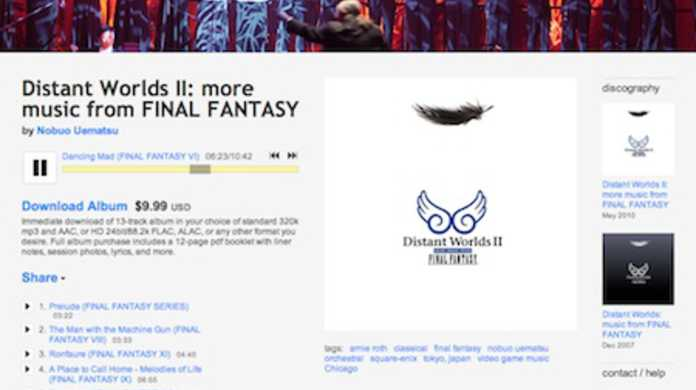 FFオーケストラCD「Distant Worlds II: more music from FINAL FANTASY」が全曲フル試聴可能に!