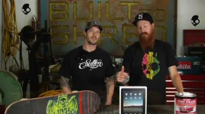 iPad をスケートボードにしちゃう動画。