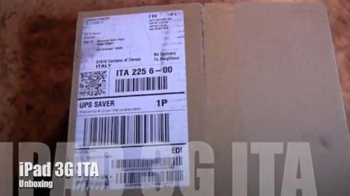 イタリアでは、はやくもiPadが届いている人がいる。