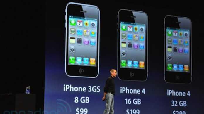 ソフトバンクがiPhone 4の発売を発表。