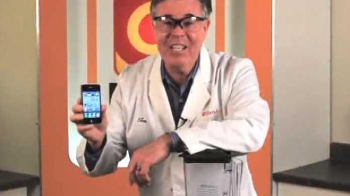 やはりiPhone 4もミキサーの魔の手に…