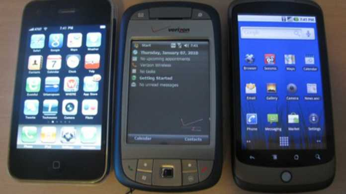 iPhone 4 vs Windows phone 7 vs Android世紀のブラウジング勝負。