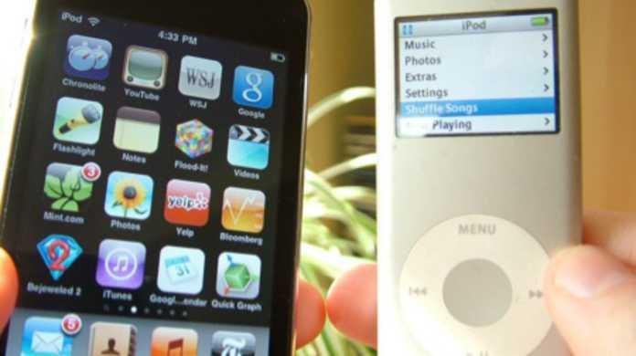 第6世代iPod nanoと、第4世代のiPod touchのケース写真?