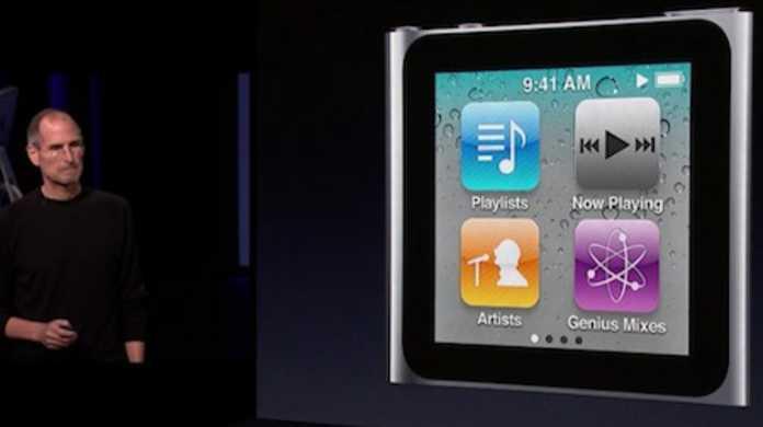 第6世代iPod nanoが登場。タッチスクリーンな超コンパクト正方形に。価格は13,800円から。