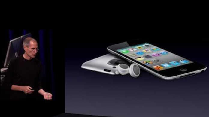 第4世代iPod touchが登場。両面にカメラが搭載され、マイクもイン。価格は20,900円から。