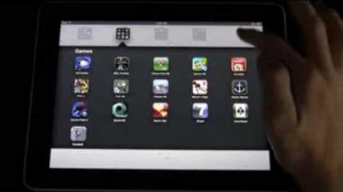 iOS 4.2が搭載されたiPadの動いている様が拝めるムービー。
